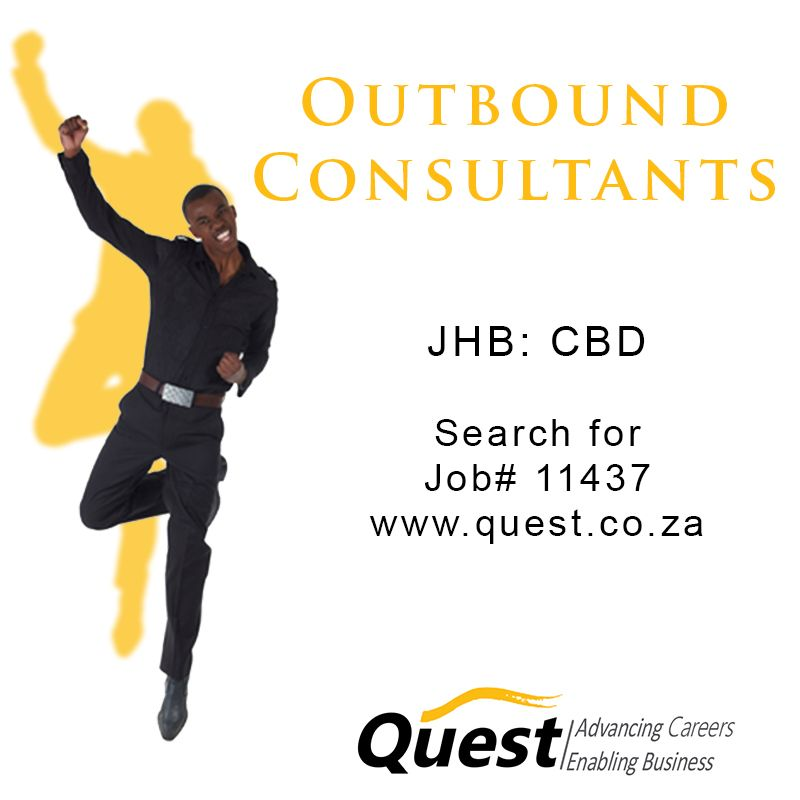Outbound consultant location jhb cbd to apply visit