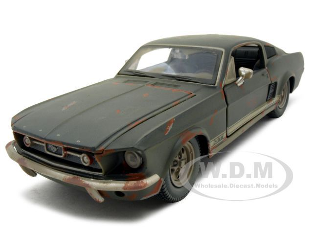 1967 Ford Mustang Gt Diecast Car Model 1 24 Rusted Version Old