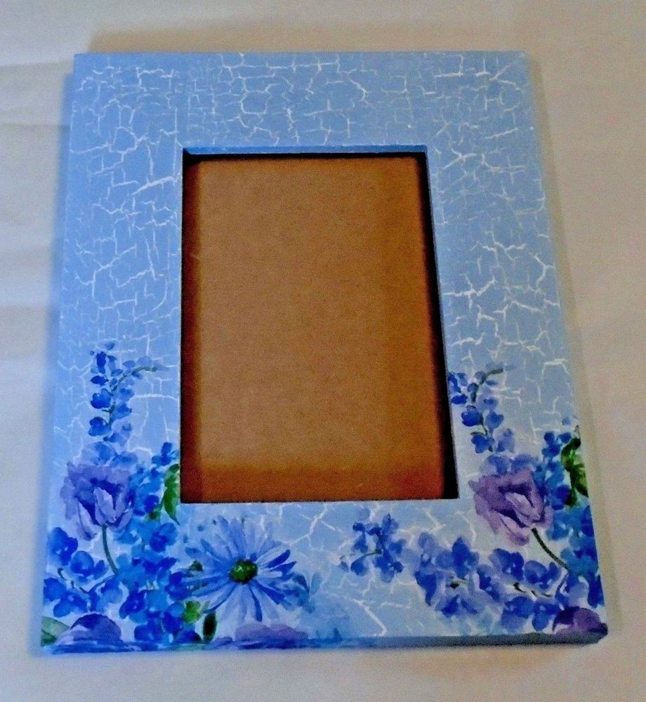 Handmade decoupage wood picture frame vintage lilacs crackle handmade decoupage wood picture frame vintage lilacs crackle look jeuxipadfo Image collections