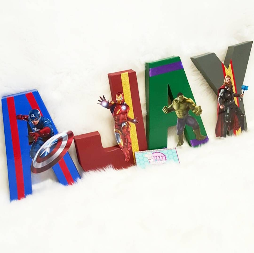 avengers for ajay unique and custom painted letters any theme can