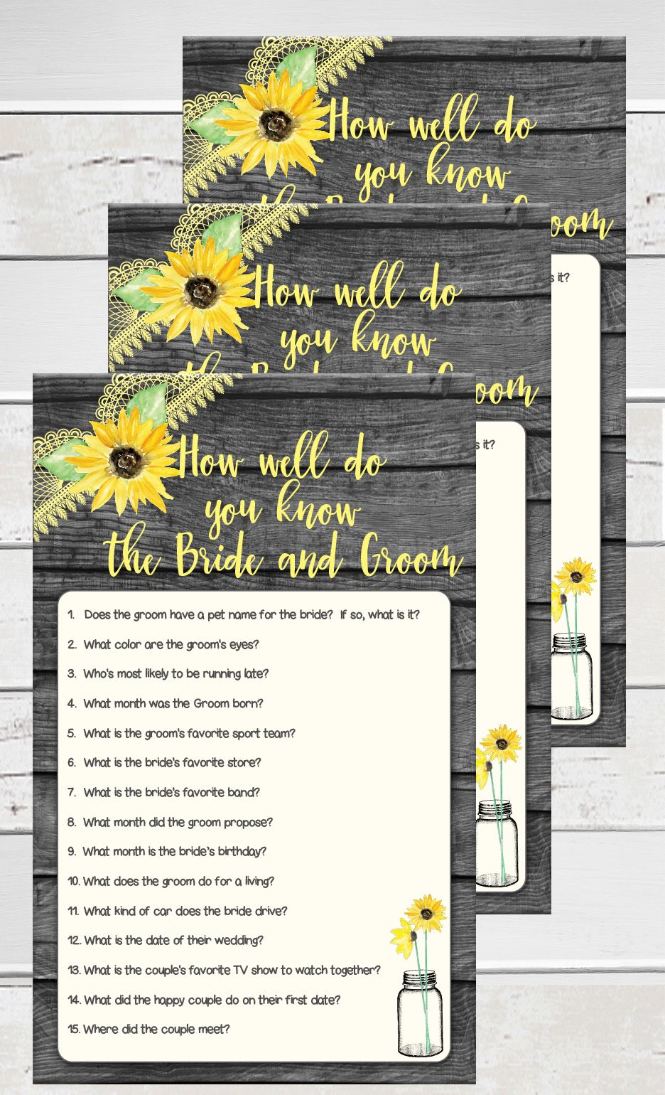 How Well Do You Know The Bride And Groom Fun For
