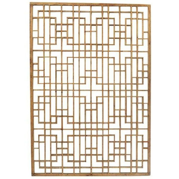 Antique Chinese Window Screen ($1,137) ❤ liked on Polyvore featuring home, home decor, panel screens, screens & room dividers and window screens