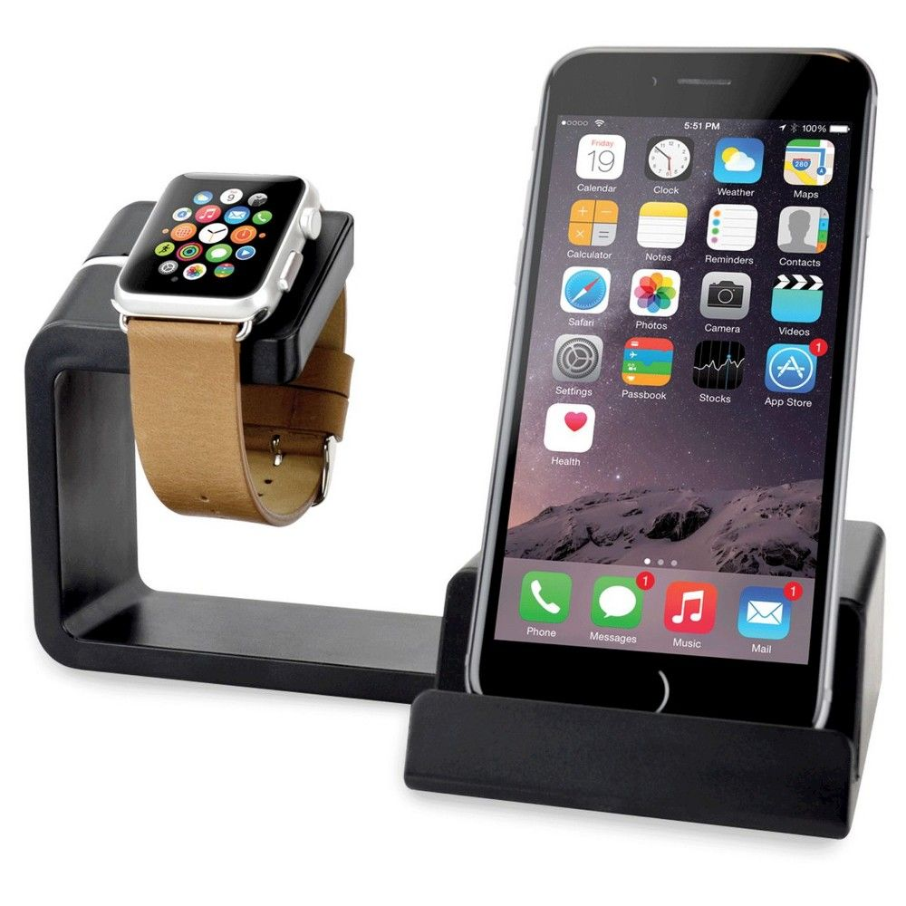 OnCharge Duo Apple Watch Charging Station Black