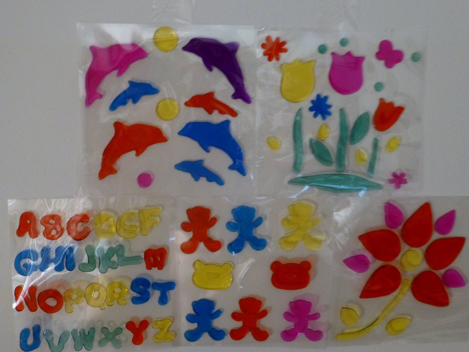 Window Gel Art, Assoterd Collection:  cool for classroom decoration and holidays