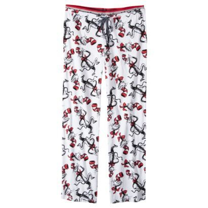 Dr. Seuss® Cat in the Hat Juniors Sleep Pant - White  c8209a7f6