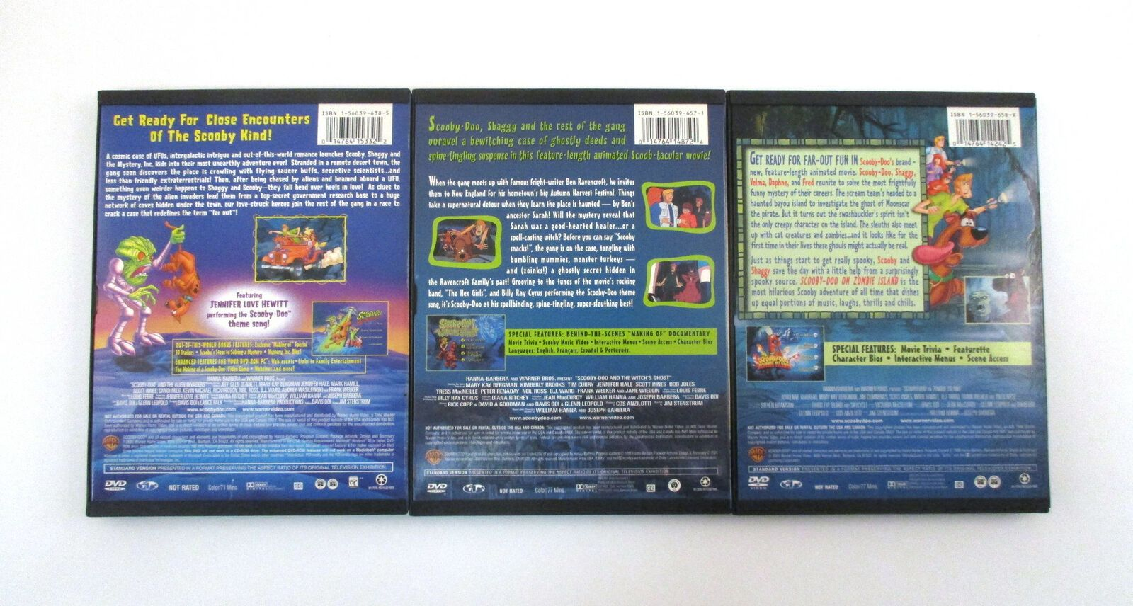 Scooby Doo Movie Collection Dvd Set Zombie Island Alien Invaders Witch S Ghost 6 In 2020 Scooby Doo Movie Movie Collection Scooby Doo