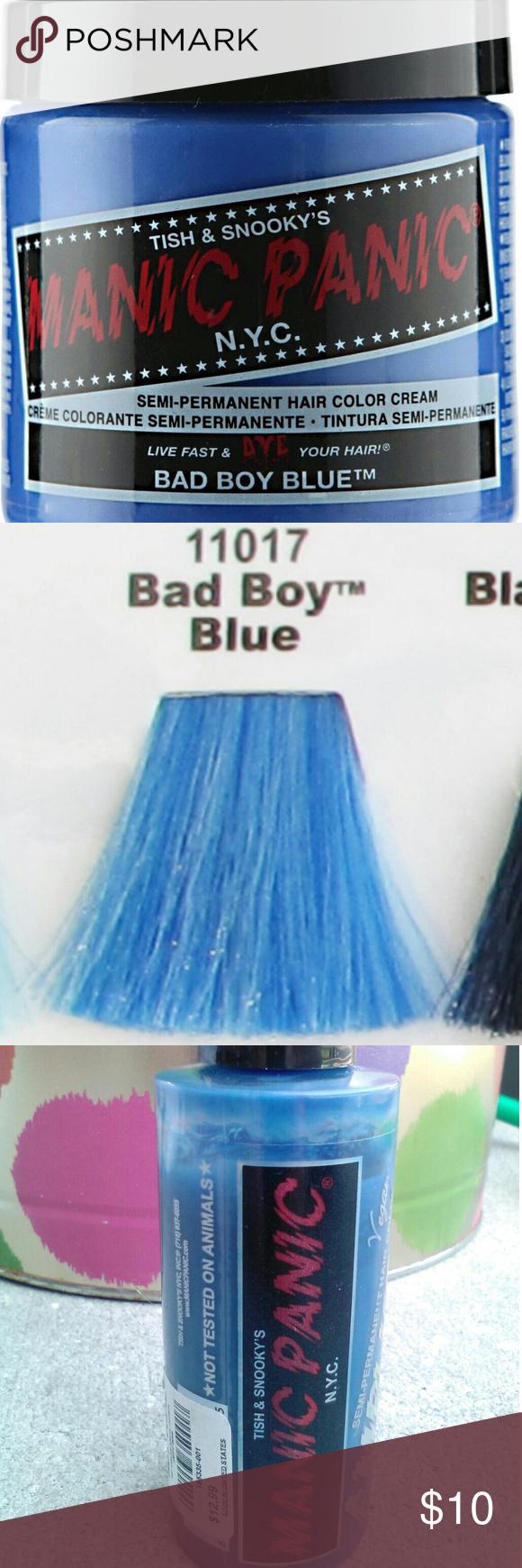 Bad Boy Blue Manic Panic Amplified Vegan Hair Dye Hair Tips Dyed Blue Vegan Hair Dye Hair Dye Tips