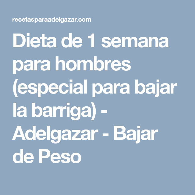 Pin En Dieta Hombre