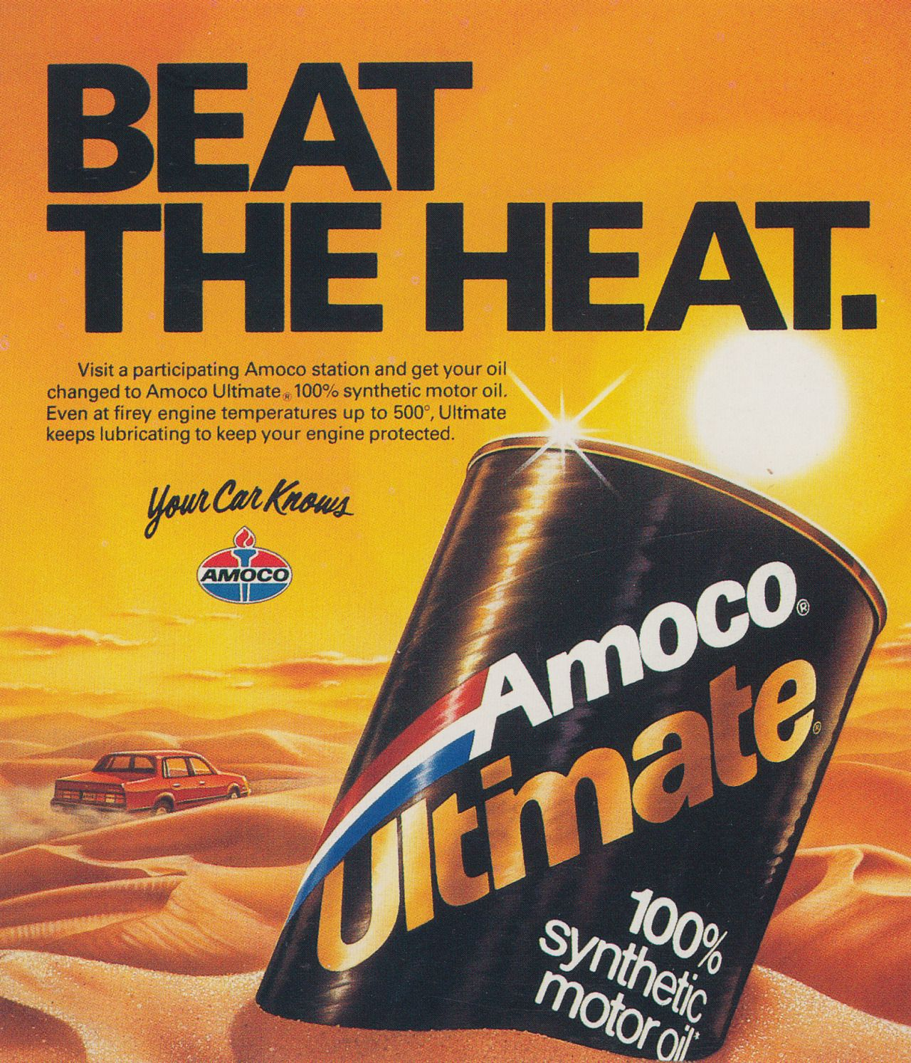 Amoco Ultimate print advertisement by Rick Brown, 1987