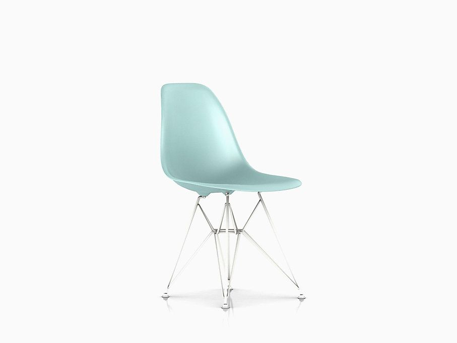 Eames Molded Plastic Side Chair Wire Base In 2020 Wire Chair Chair Side Chairs