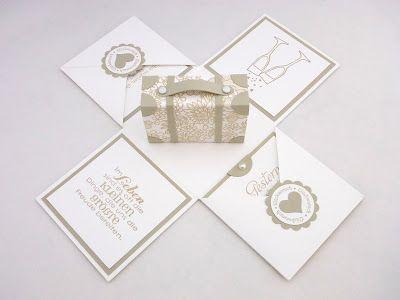 Sabines Basteltisch Explosionsbox Zur Goldenen Hochzeit