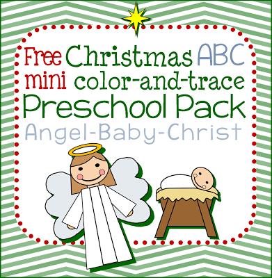Christmas Angel ABC Preschool Pack Printable