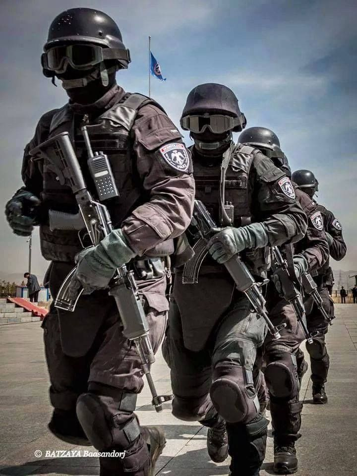 Members Of The Mongolian Special Police Unit Swat Military Heroes