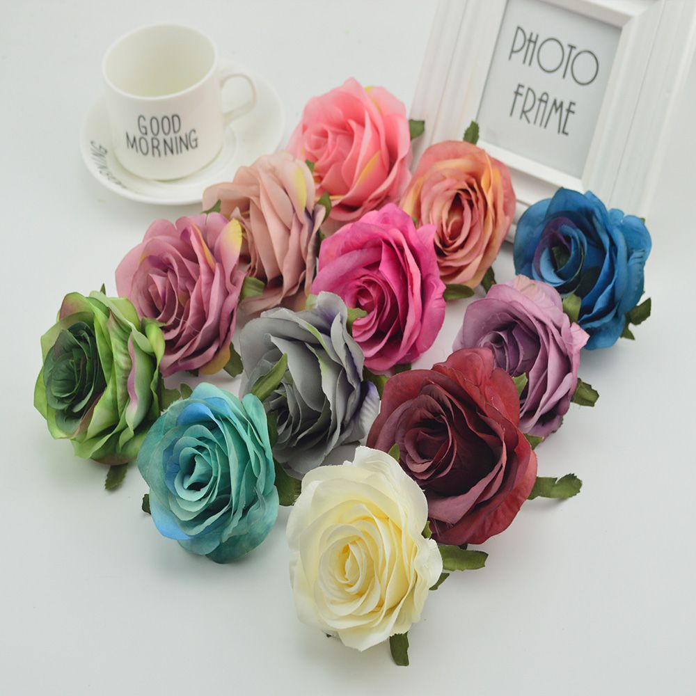 Wedding decorations accessories  pcs Silk plastic roses flowers wall for vases home wedding
