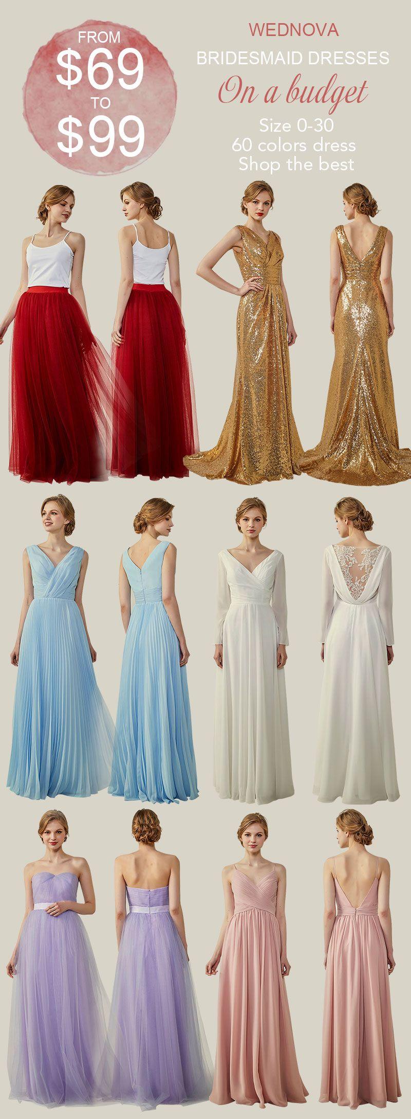 b1c905bc87b Tulle skirts v neck chiffon bridesmaid dresses sequin a line dress 60  colors dress shop the best  bridesmaids sweetheart bridesmaid dresses