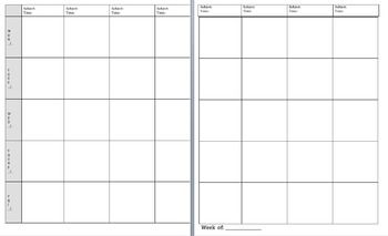 This Simple Template Allows You To Type Your Lesson Plans Directly