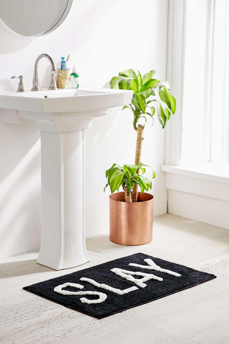 Slay Bath Mat Looks Banheiro Look