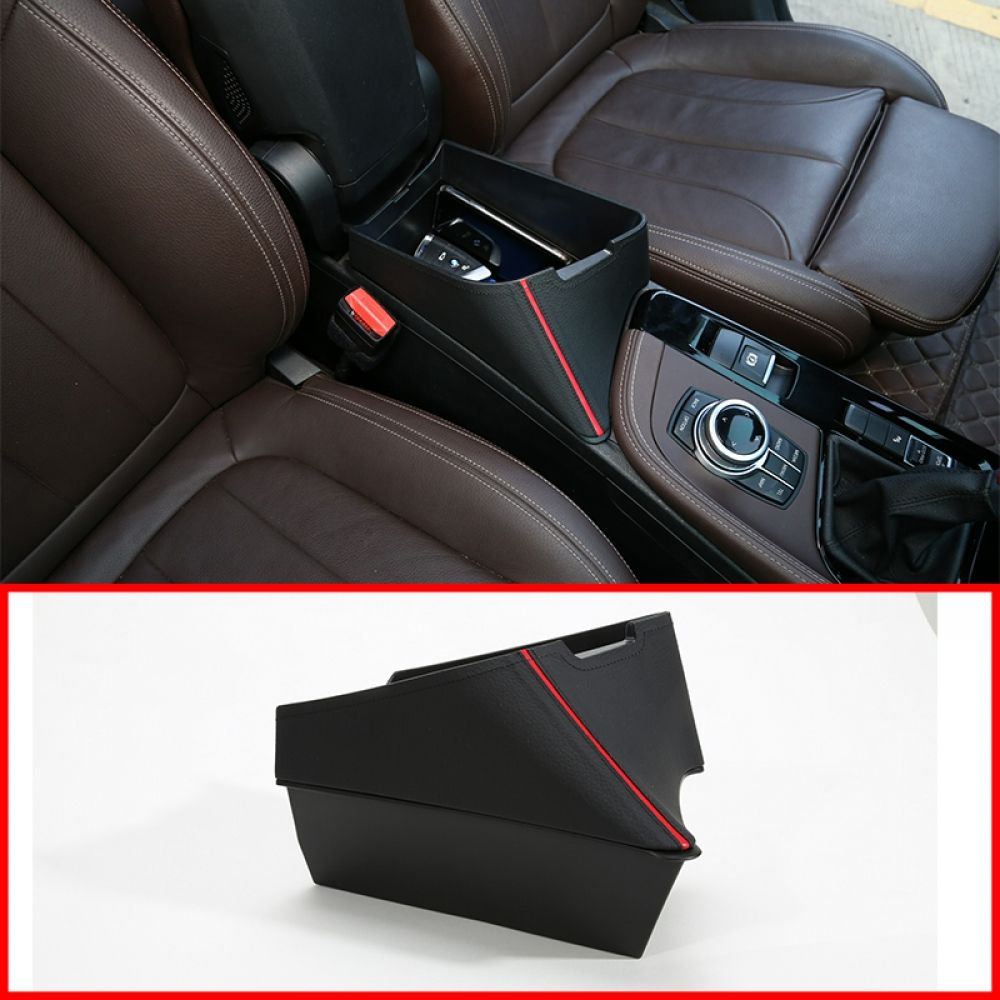 Carbon Fiber Center Console Armrest Storage Box Frame Trim Cover