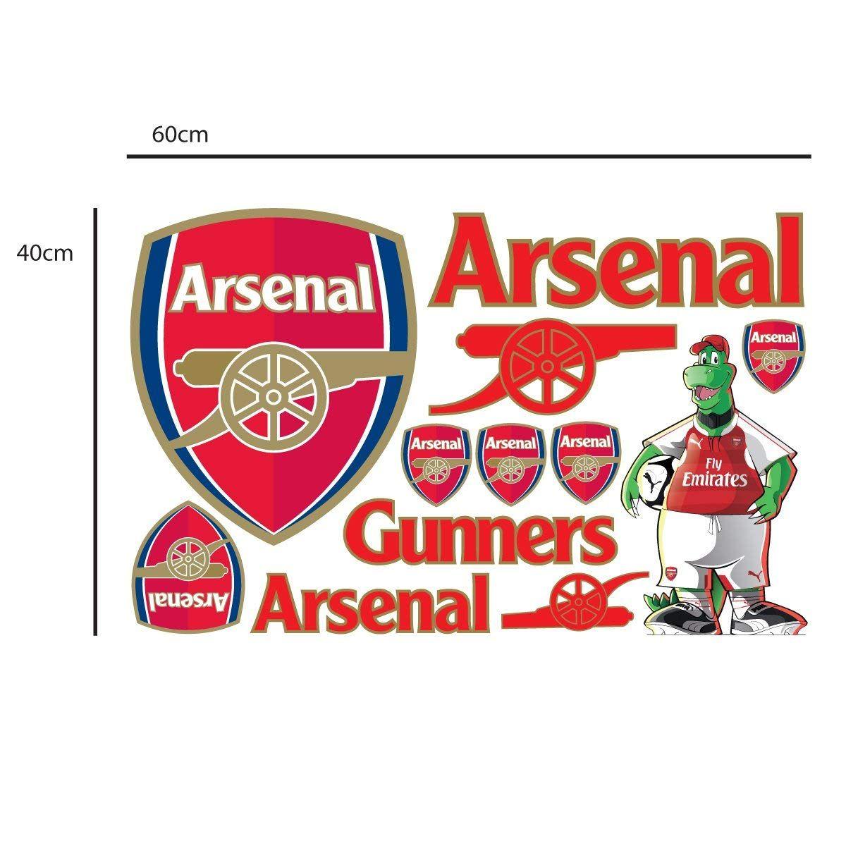 94d900aaa30ba Arsenal Football Club Official Crest Wall Sticker + Arsenal Decal ...