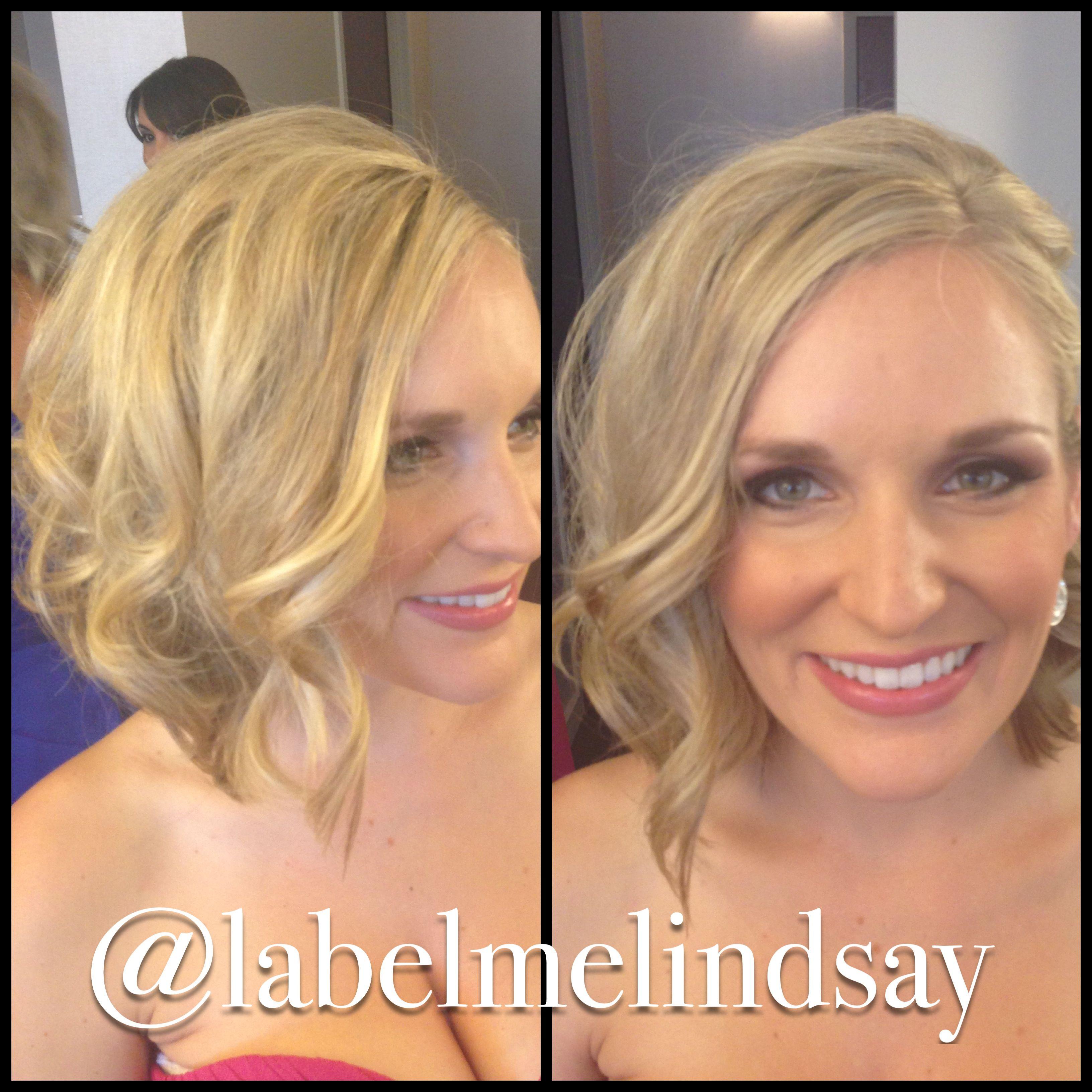 Cute short hair option for bridesmaids wedding hair hairstyles