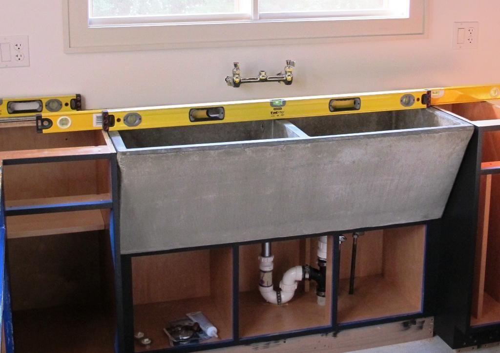 concrete laundry sink utility   laundry sink, concrete