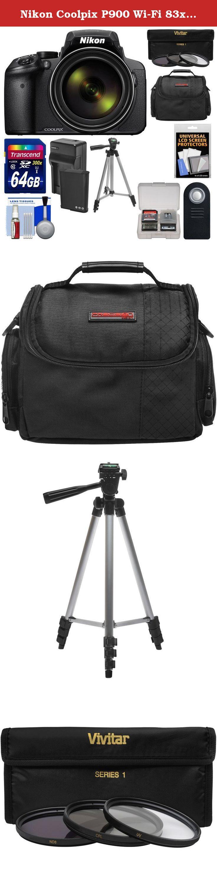Nikon Coolpix P900 Wi Fi 83x Zoom Digital Camera 64gb Card