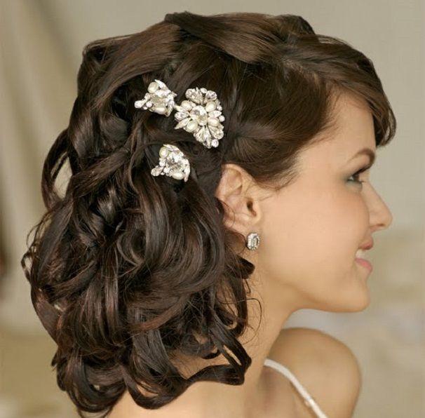 Bridal Hairstyles Wedding Haircuts Styles Gathered For Medium Hair