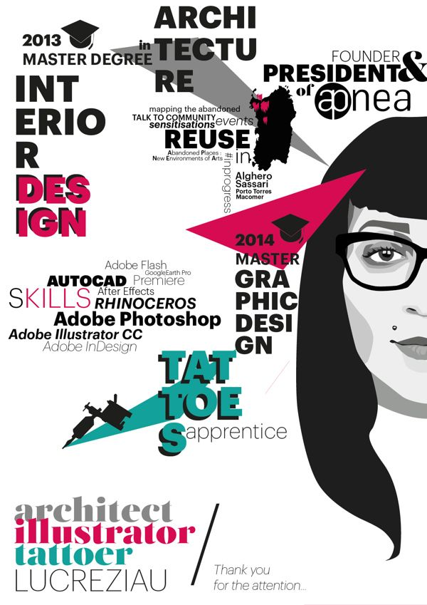 Lucreziau Cv Sintetico By Lucrezia Urtis Via Behance With Images Resume Design Graphic Design Resume