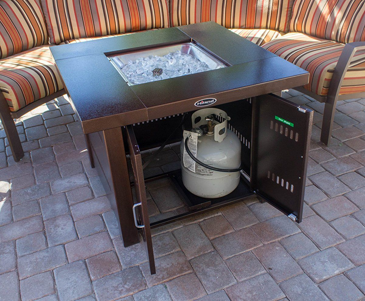 AZ Patio Heaters GS F PC Propane Fire Pit, Antique Bronze Finish