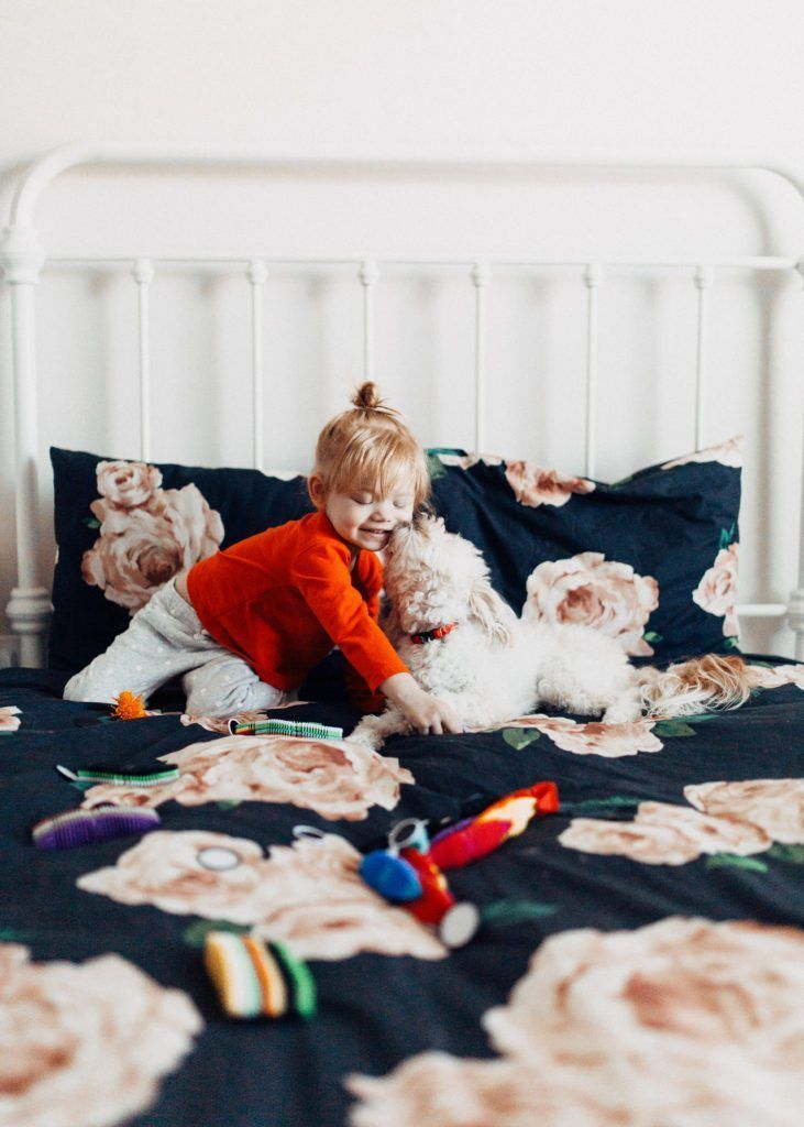 magna flex educational toy for creativity and fun positively oakes jess oakes / toddler and dog // #MagnaFlex #WowWee #ad