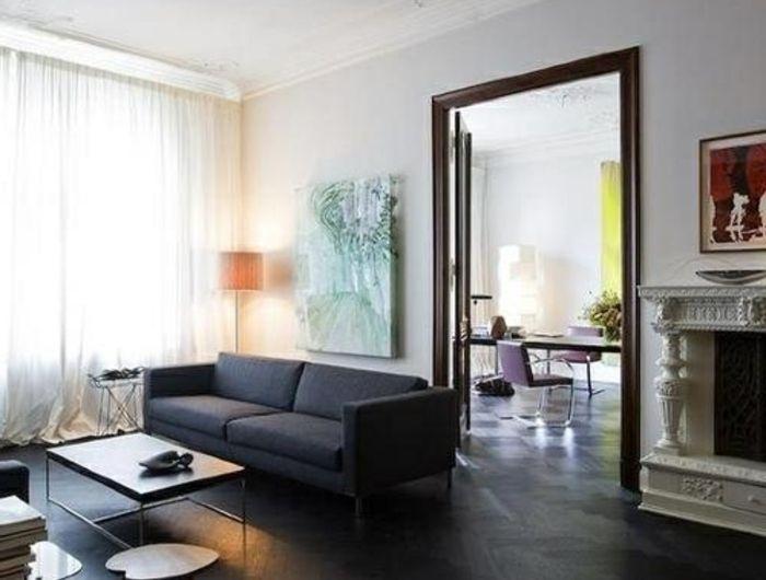 Le parquet noir en 45 super photos Beaucoup d\u0027idées pour l - Taxe D Habitation Appartement Meuble