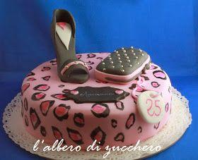 Fashion Cake~                              By lalberodizucchero, leopard print, high heels, compact, 1 tier, round