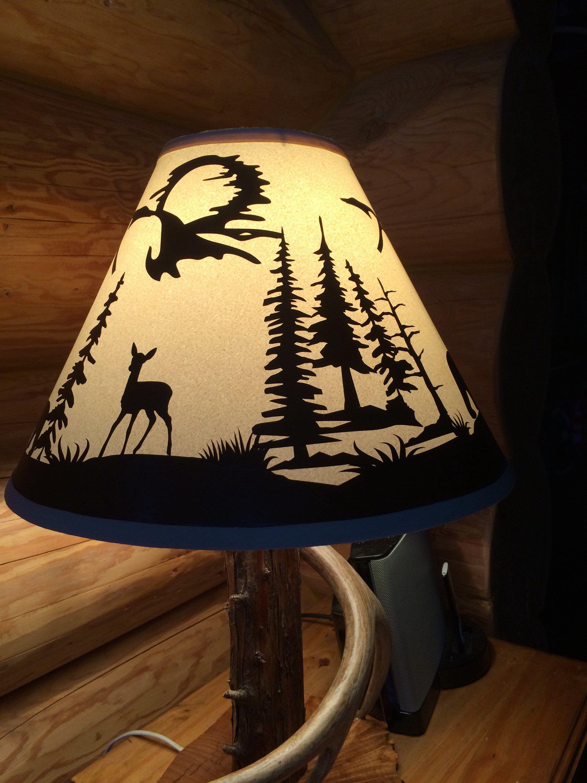 Wildlife Lampshade Deer Bear Scene Lamp Shades Lamp Table Top Lamps