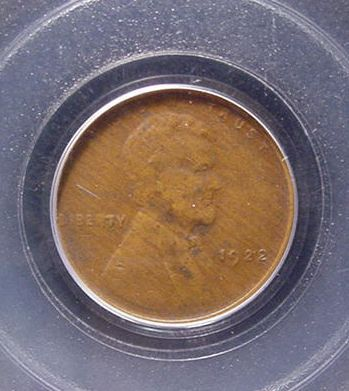 1922 No D Lincoln/Wheat Cent Strong Reverse PCGS VF 35