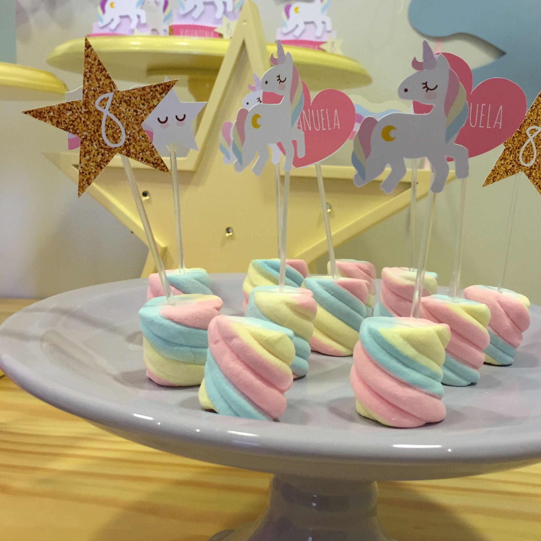 Muito gostoso!! unicórnio Festa unicórnio, Unicórnio e Decoraç u00e3o festa unicórnio -> Decoração De Festa Infantil Tema Unicornio