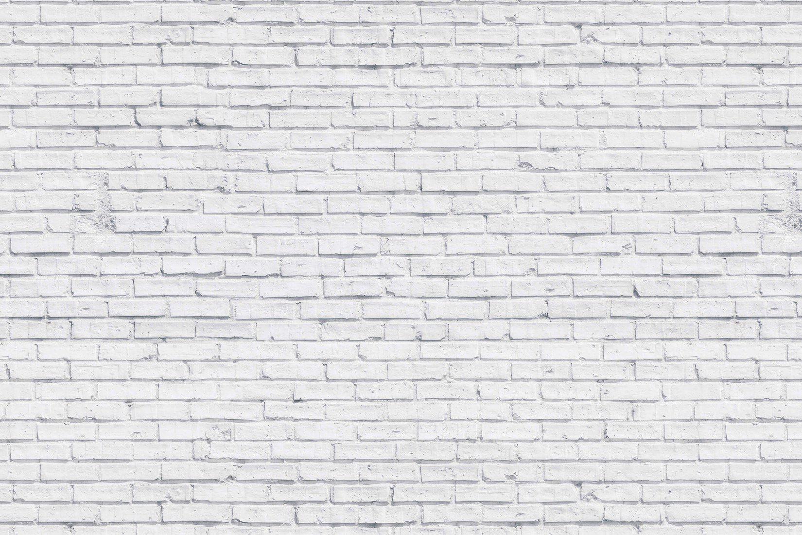 Clean White Brick Wallpaper Mural (met afbeeldingen