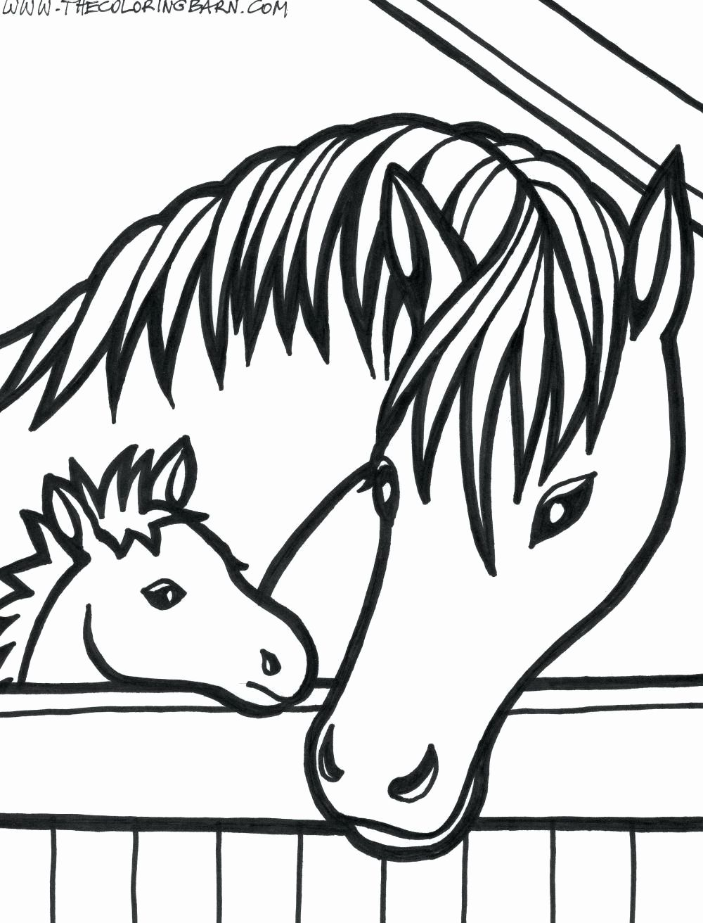 Baby Horse Coloring Pages For Kids Horse Coloring Pages Farm Animal Coloring Pages Horse Coloring