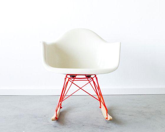 Eames Rar Stoel : Image of eames rar with custom powder coated rocker base furniture