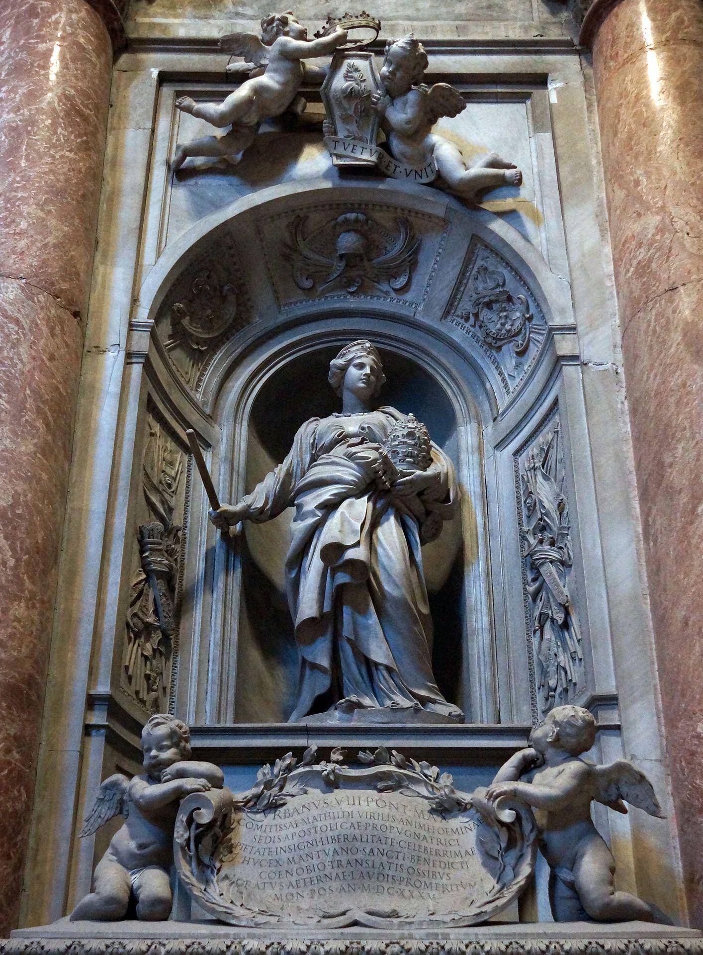 Náhrobek Matyldy Toskánské Gian Lorenzo Bernini | Matilde