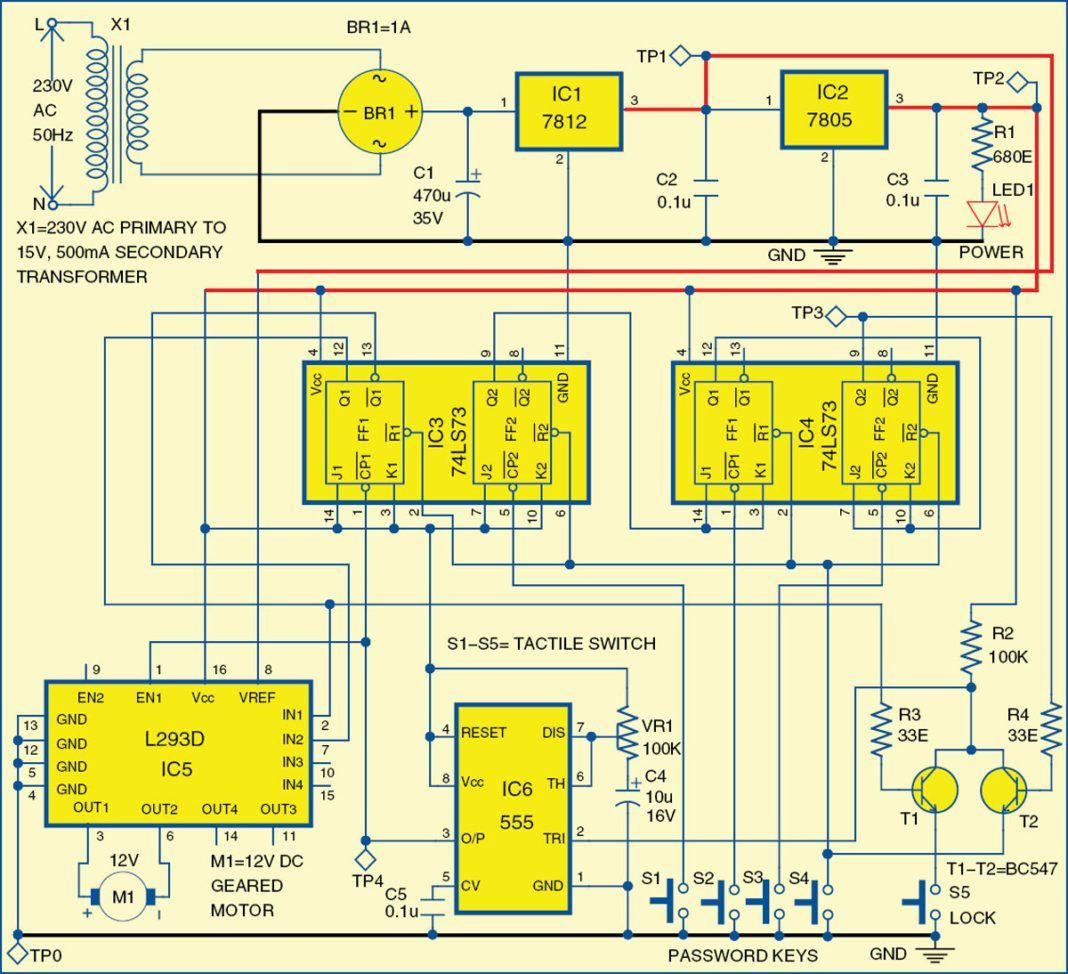 Electronic Door Lock Electronics Projects Ne555 Circuits And Diagramelectronics For You