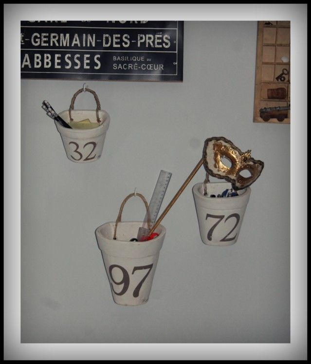 My office, Riviera Maison wall pots