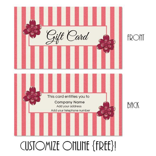 Free Printable Gift Card Templates That Can Be Customized Online - Free online gift certificate templates