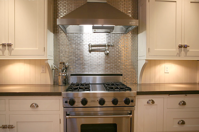 Stainless Steel Mosaic 1x3 Stainless Backsplash Stainless Steel