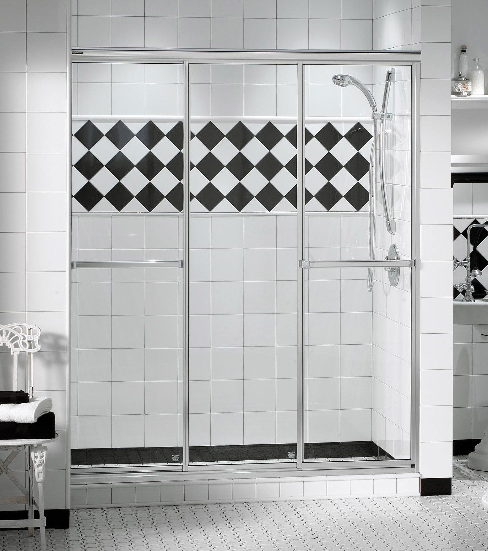 Triple Plus 3 Panel Alcove Door Maax Shower Doors Sliding Shower Door Tub To Shower Conversion