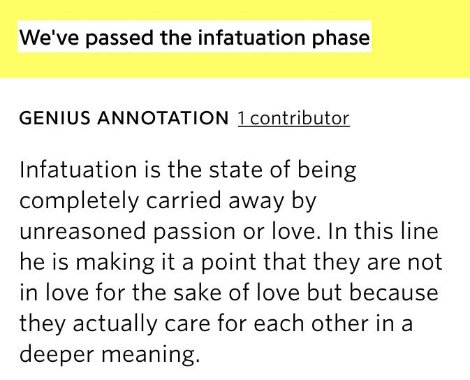 Infatuation phase