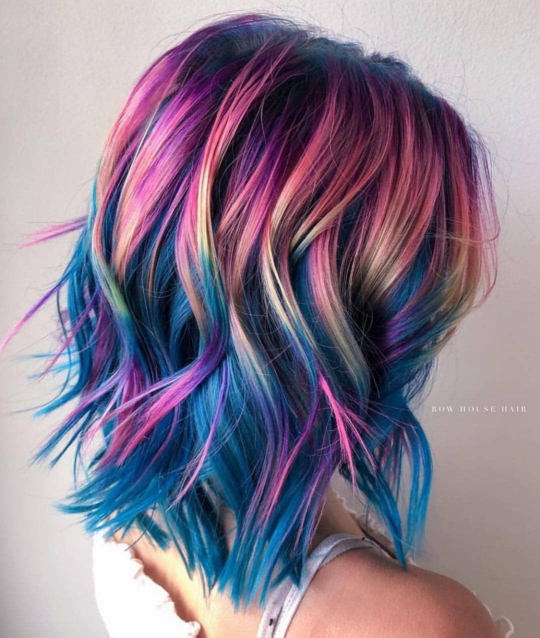 Unicorn Hair Multi Colored Hair Rainbow Hair Unicorn Rainbow Hair Rainbow Hair Color Red Ombre Hair Hair Color Red Ombre