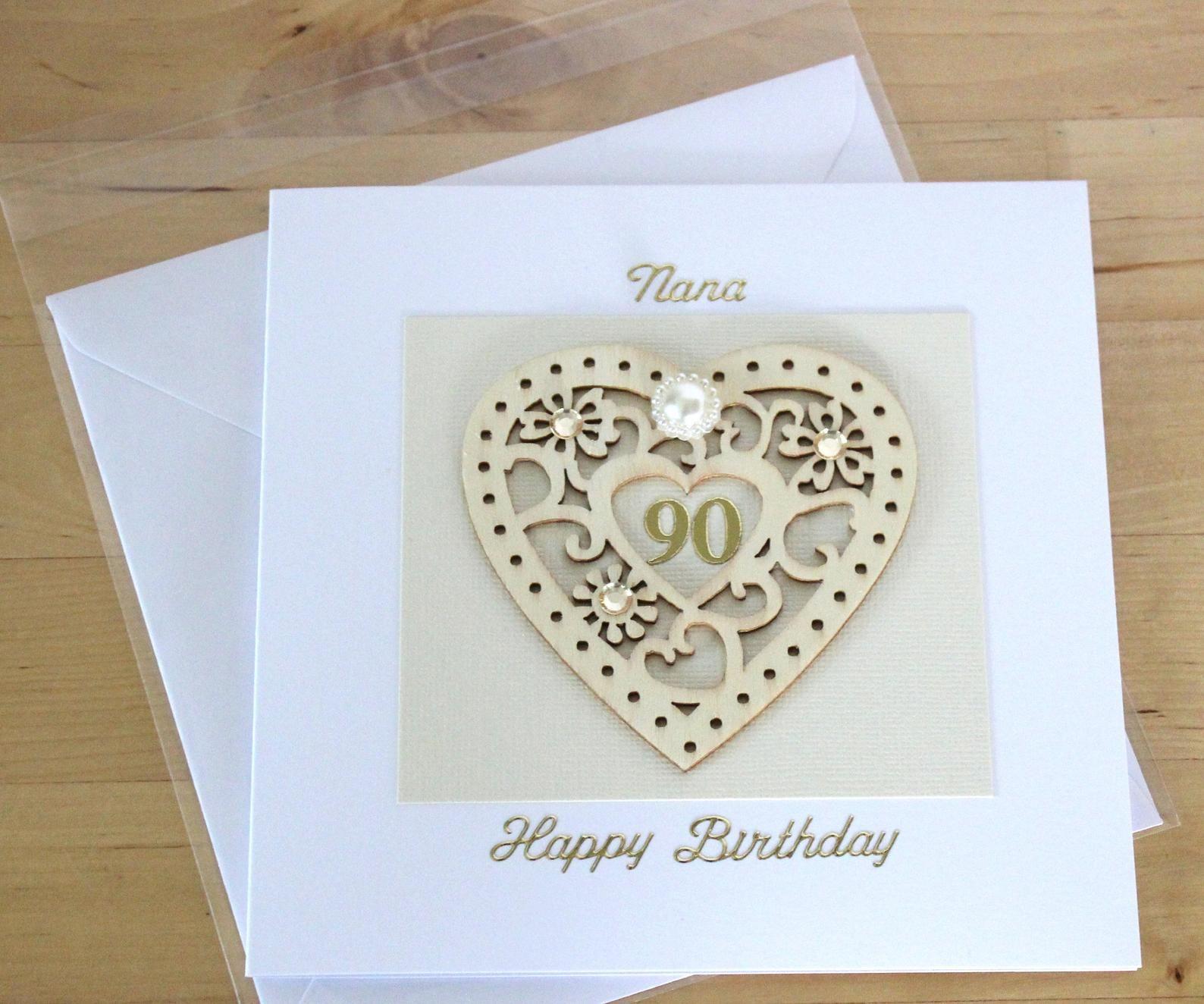 Happy 90th Birthday Mum 90th Birthday Cards Birthday Cards Birthday Scrapbook Layouts