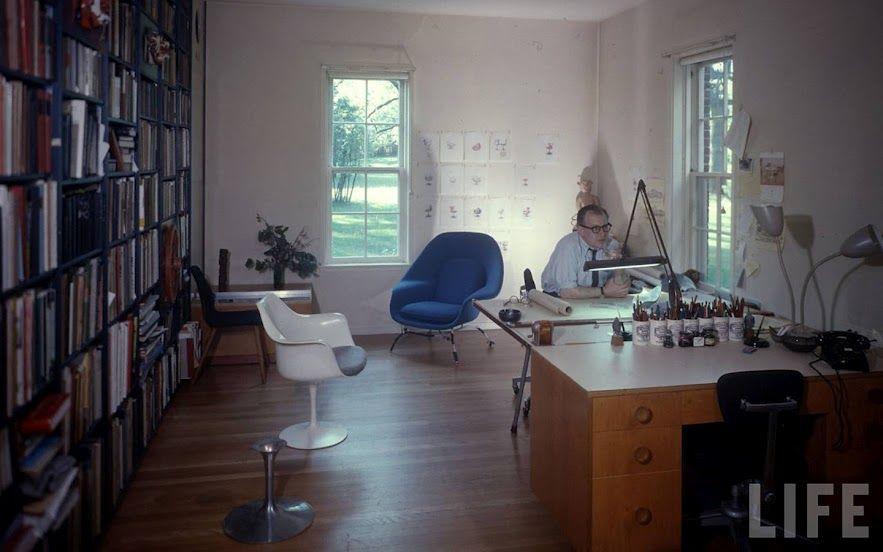 home office magazine. Saarinen In His Home Office. Photo © Life Magazine. Office Magazine O