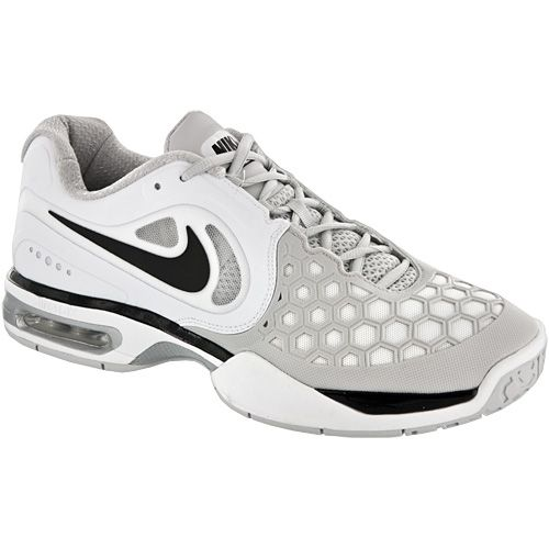 new product 440e1 75073 ... Nike Air Max Courtballistec 4.3  Nike Men s Tennis Shoes  White black silver  ...