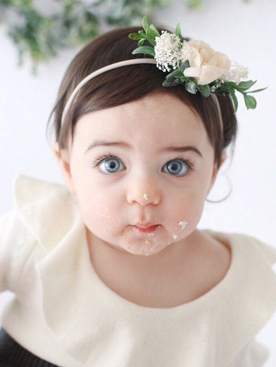 Ivory Baby Flower Crown Headband #crownheadband